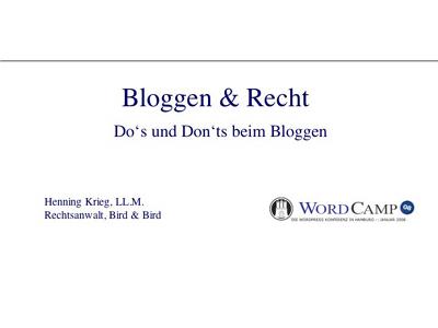 Bloggen & Recht
